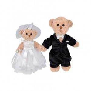"""Мишки Тедди """"Wedding Pair"""", 25-30см (пара)"""